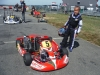 New kart practicing for first race