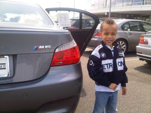 Christian at the BMW dealer test driving a BMW M5