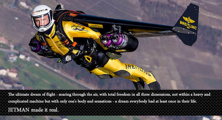 "Yves Rossy, ""The JetMan"""