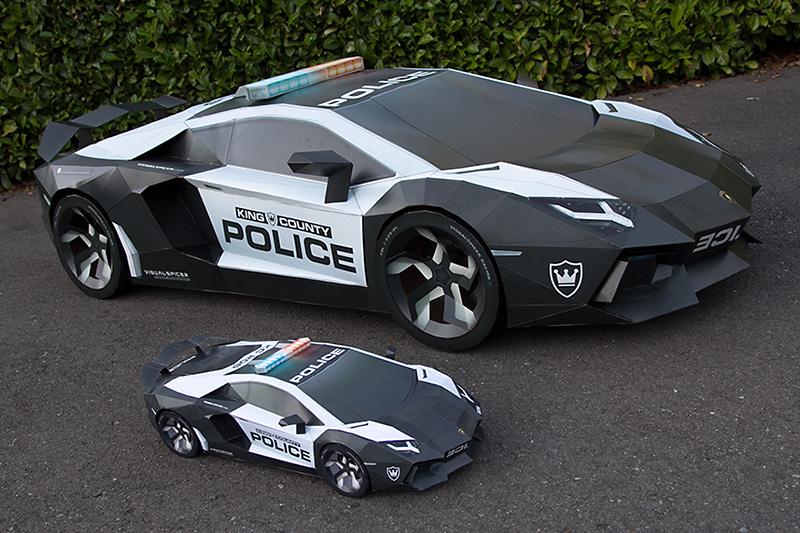 Lamborghini Aventador. Ultimate Papercraft Supercar