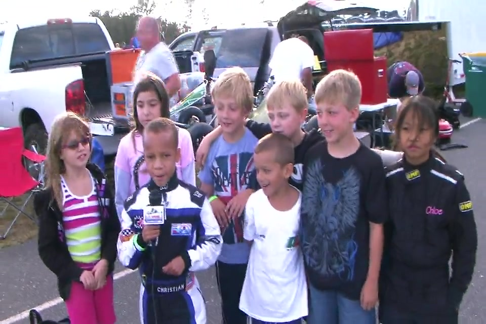 A message from the Cadet Kart kids at NJMP