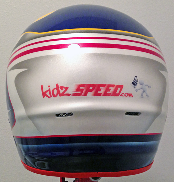 Helmet KidzSpeed Final 2014 c rear logo