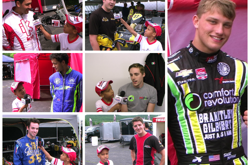 Interviews with F-Series racers and Indy 500 & kart racer, Sage Karam