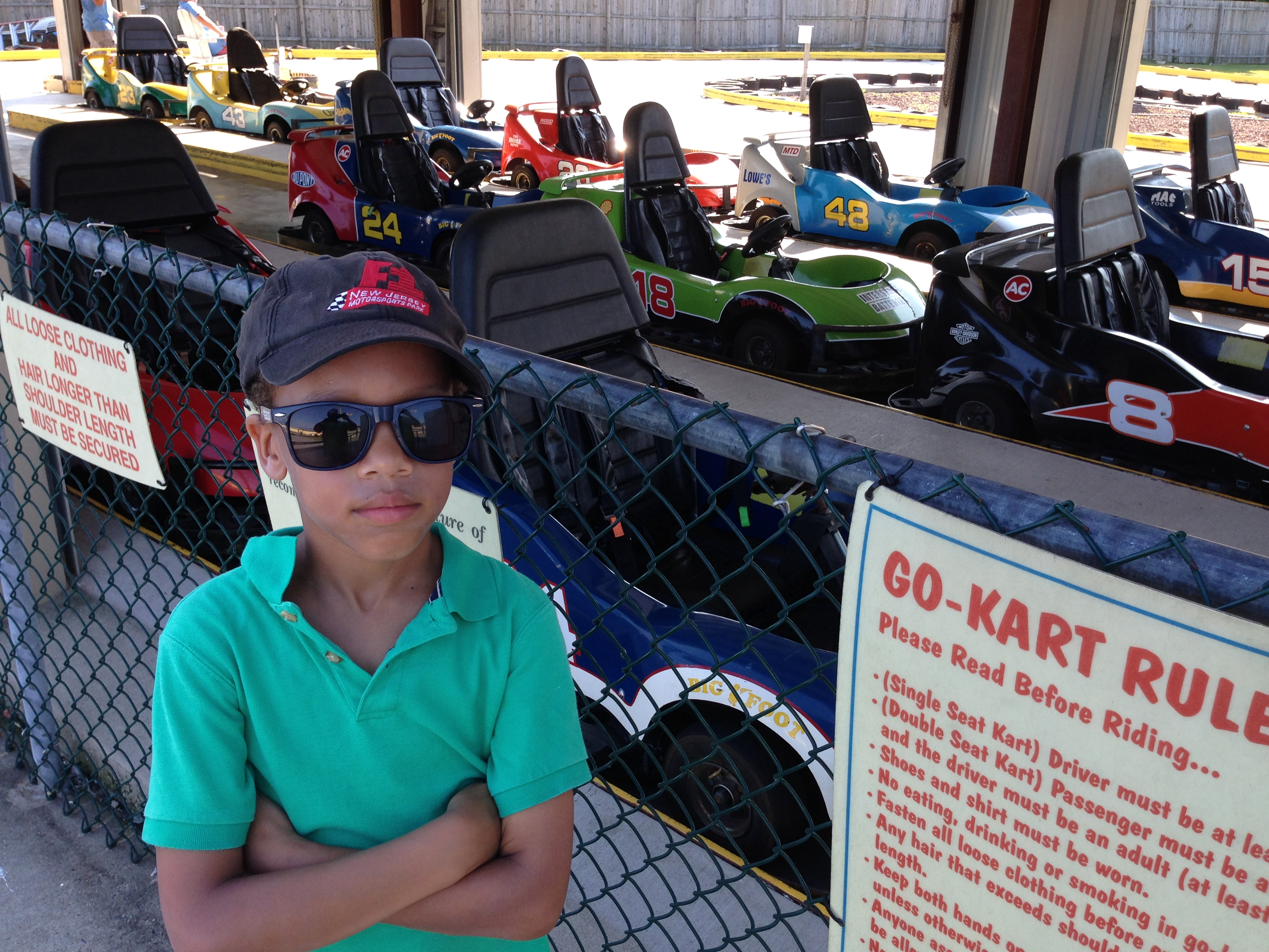 What happens when you ask a Cadet kart racer to drive an Amusement Park Go Kart while on vacation?