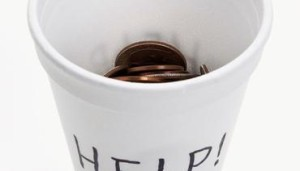Crowd Funding cup of coins