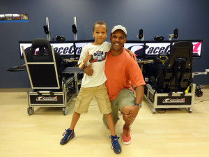Christian and Dad at RaceCraft1